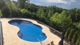 Swimming Pool : We can fit a 14 x 24 kidney shaped pool in our backyard