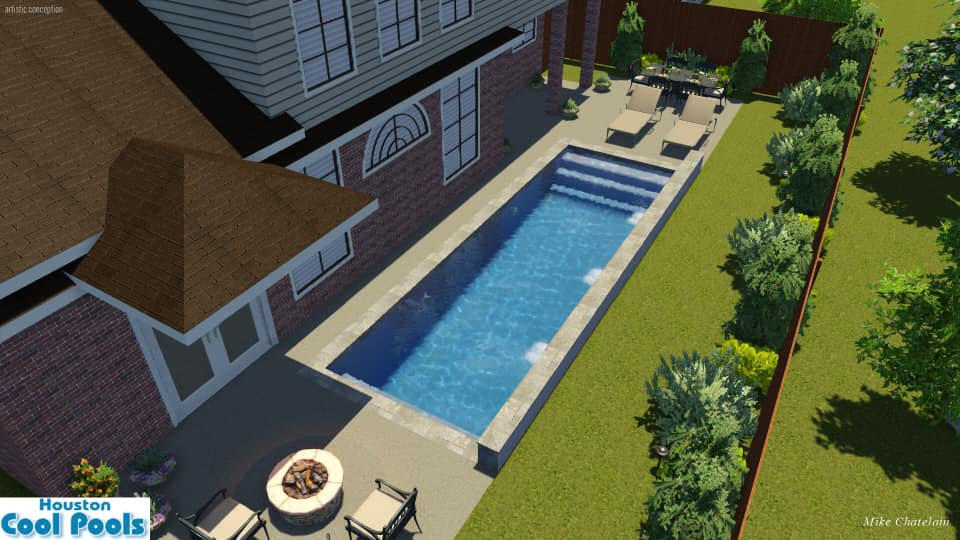 Small Swimming Pool Ideas : This was a drawing we had done for a 10x30