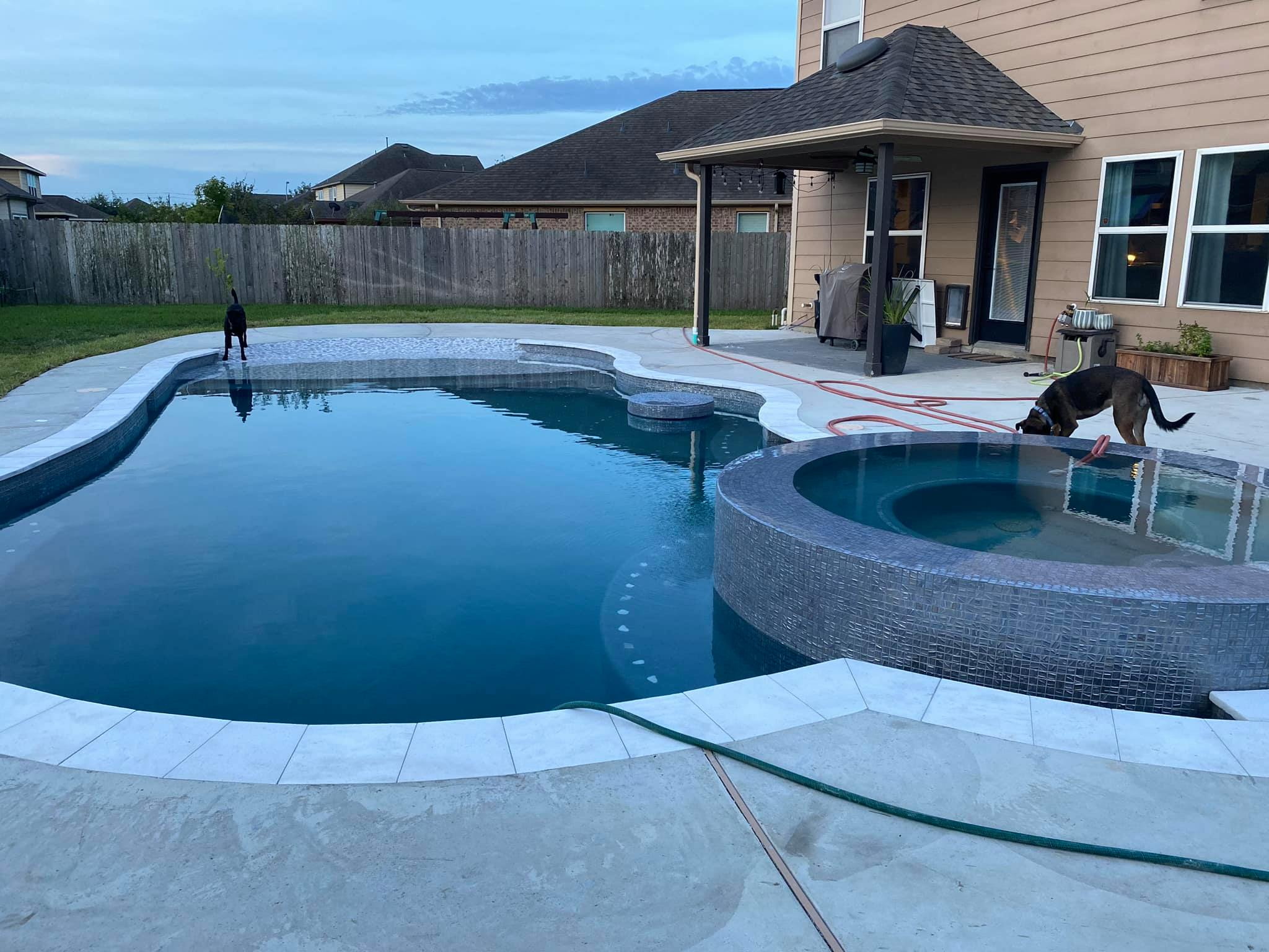 Swimming Pool Ideas : Glad to finally have water in our pool!