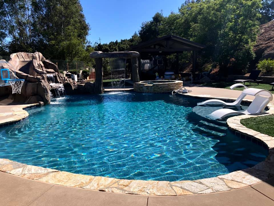 Canyon gold swimming pool ideas