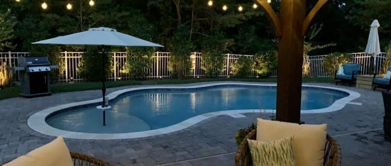 My Swimming Pool : Dusk is one of my favorites times in the backyard