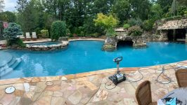 Swimmin Pool : I am a big fan of organically shaped pools. Is a manual pool cover too difficult to deal with?