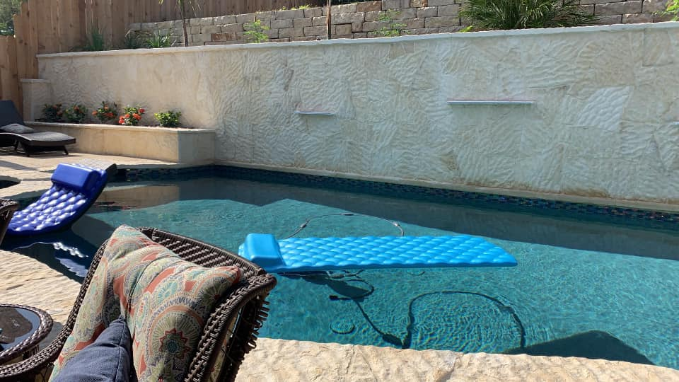 Tahoe blue swimming pool ideas. Color changes depending on time of day.