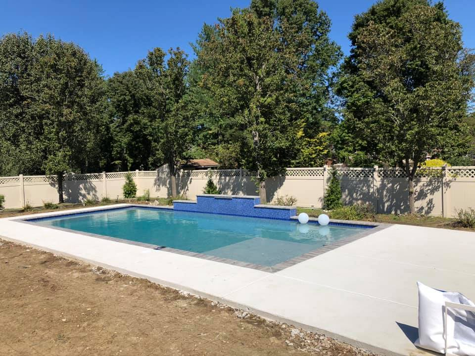 Pool ideas : I have a 17x40 rectangle, 3.6'-6.6', with a 8x9 tanning ledge, and a waterfall.