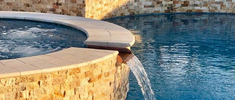 We are having a spillway from the spa to the pool. I am trying to find ideas so the waterfall is our farther from the side of the pool