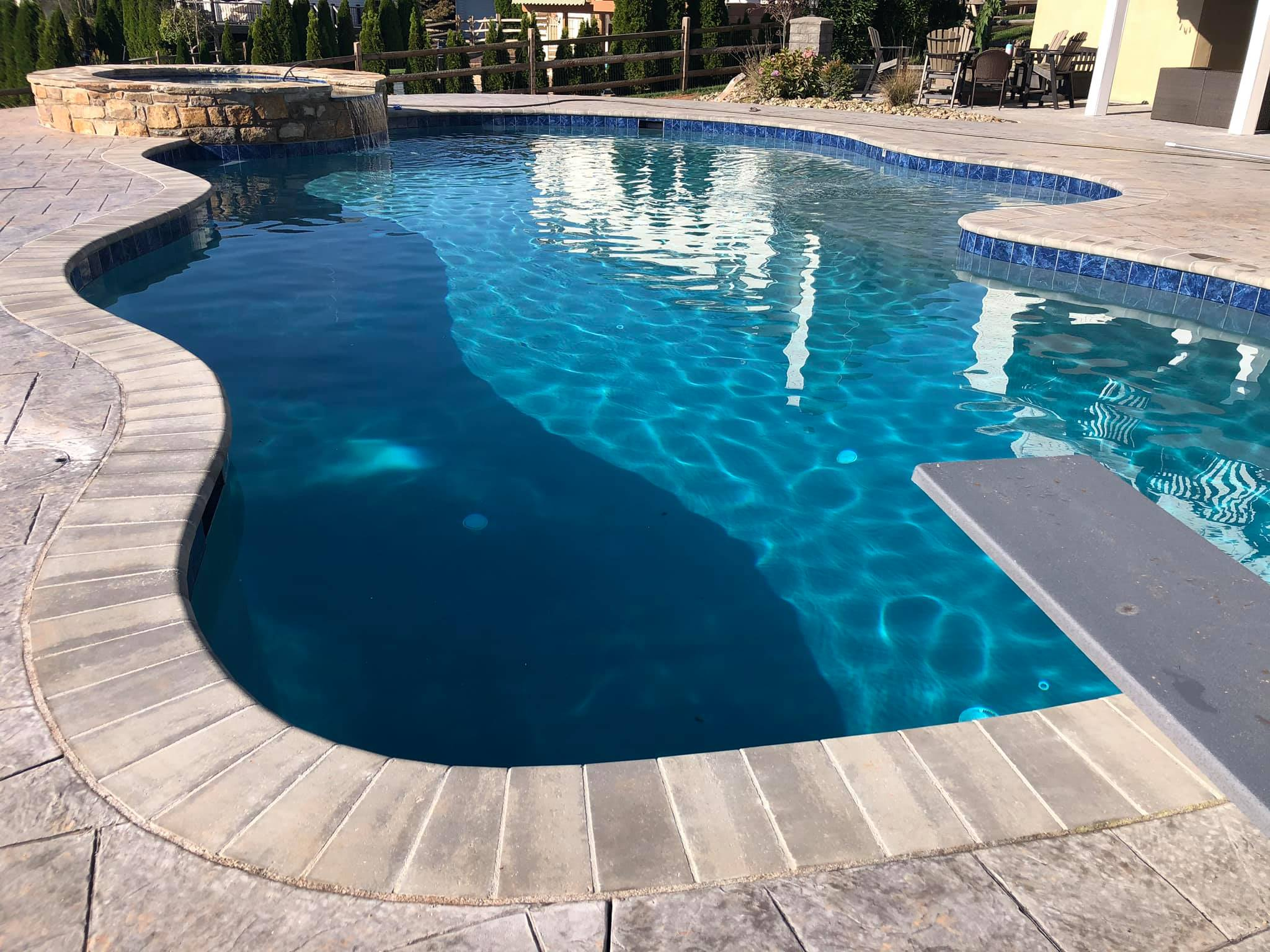 Swimming Pool Ideas : The accents we choose are called Fusion accent step markers.